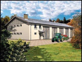Projekt Garaż Na Maszyny Rolnicze Z Mieszkaniem Służbowym Www