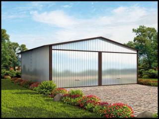 Projekt Garaż Blaszany Wolnostojący 2 Stanowiskowy Www